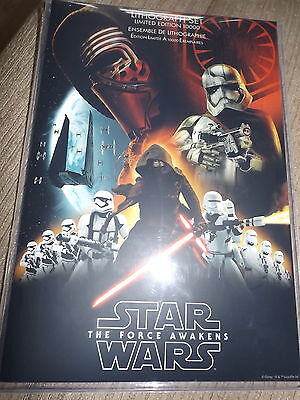 Star Wars The Force Awakens Set Of 7 Lithograph Prints  Ltd Edition Official New