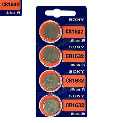 4 x SONY Lithium CR1632 batteries 3V Coin Cell DL1632 ERC1632 KRC1632 EXP:2025