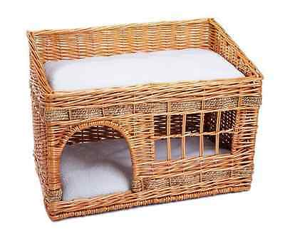 Cat House with Cushions Woven Den Bed Sleep