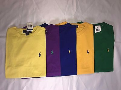 New With Tags Polo Ralph Lauren Boy's Short.sleeve T.shirts - Yellow / Purple