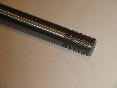 """1""""  Steel Shaft / Rod  Threaded 1"""" - 8  (one end) with nut   12"""" Long"""