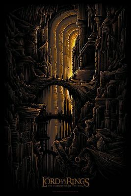 Lord of the Rings Fellowship of the Ring Alt Movie Poster Dan Mumford No. /200