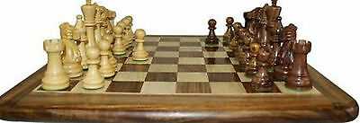 Staunton Luxury High Quality Gift Hand Carved Wooden Chess Set Brass Inlaid Box