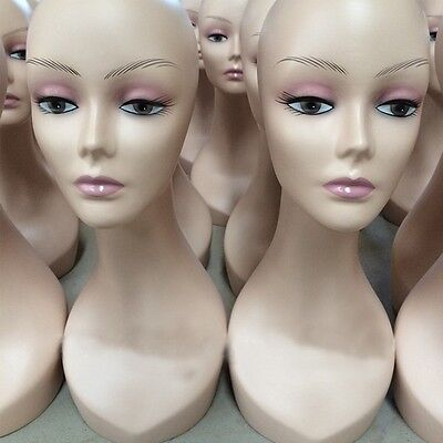 Bust Manikin Hair Mannequin Hat Wig Jewelry Necklace Pendant Display Model Stand