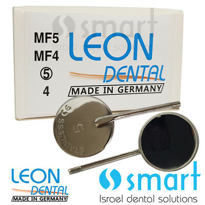 Dental mirror mouth stainless steel No. 5 pack of 10 Leon Dental