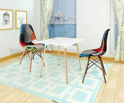 FoxHunter 1 Pair of Retro Patchwork Chair Fabric Seat Vintage Home DSW PC001 New