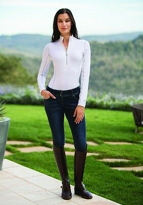 New - Goode Rider Long Sleeve Ideal Show Shirt, White size Small