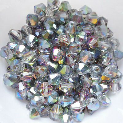 Free shipping New 100 PCS swarovski crystal 4mm #5301 Bicone Beads