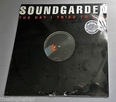 "Soundgarden - The Day I Tried To Live 12"" Sealed Etched Vinyl with Stencil"