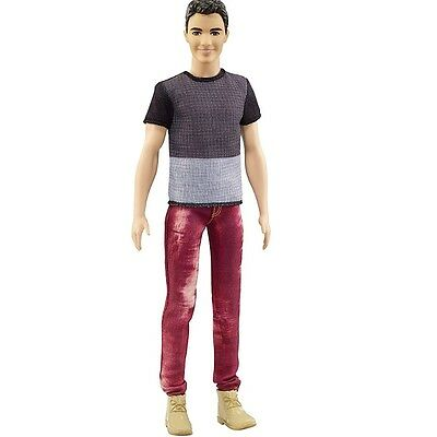 NEW! 2016 Barbie Evolution Fashionista Color Blocked Cool Ken Doll