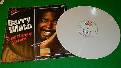 """BARRY WHITE : Just the way you are - Original 1978 white vinyl 12"""" single VG/EX"""