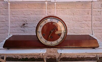 Fantastic Large Art Deco Westminister Chimes Mantel Clock 1950S