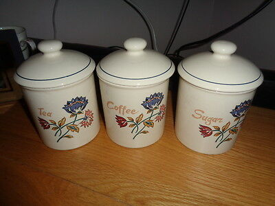 Boots Camargue Set Of Three Storage Jars - Tea, Coffee Sugar