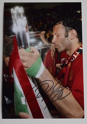 Ryan Giggs SIGNED 6x4 Photo Autograph Manchester United AFTAL CLEARANCE SALE COA