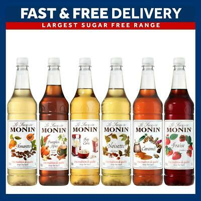 Monin 1L Syrups Multiple Flavours for Coffee and Cocktails - As Used By Costa