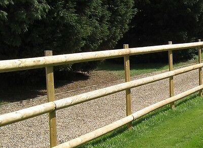 10 x 1.8m x 100mm Diameter HALF ROUND WOODEN TIMBER FENCE RAIL