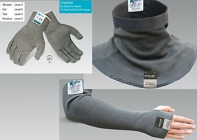 Cut Resistant DuPont Kevlar Gloves Neck & Sleeves / Arm Guard Protection