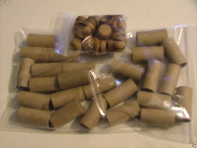 """25 Cardboard/paper Pyro Tubes 5/8 X 1-1/2"""" + End Caps"""