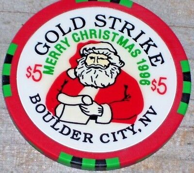 $5 Ltd 1996-1997 Gaming Chip From The Gold Strike Casino Boulder City Nv