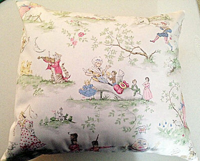 Over The Moon Toile Nursery  Pillow    * NEW*     12 x 18  Complete Pillow
