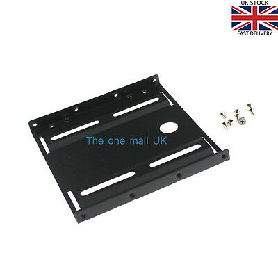 HQ PC 2.5'' to 3.5'' HDD/ SSD Hard Disk Drive Mounting Bracket Rail Adapter Case