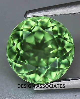 Apatite 7 Mm Round Cut All Natural Chrome Green Color