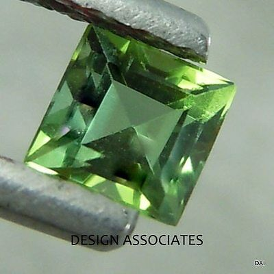 Apatite 3 Mm Square Cut All Natural Chrome Green Color