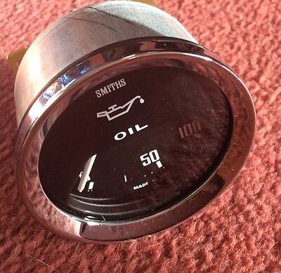 SMITHS OIL PRESSURE GAUGE NEW ELECTRIC 0-100 Psi -MG