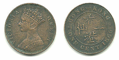 HONG KONG - TWO Queen Victoria 1-Cent Coins, 1866 KM #4.1 & 1901 KM #4.3