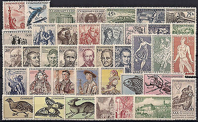 Czechoslovakia 1955, Complete Year Set Stamps, **mnh**