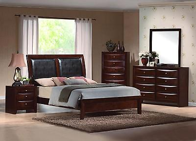 Emily King Size Upholstered Low Profile Bed Contemporary Bedroom Furniture Set
