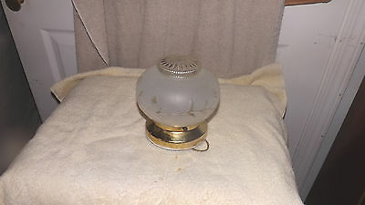 Small Vintage Ceiling Light Fixture Glass Globe Old Kitchen Bathroom  LF 22