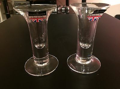 Dartington Glass Lead Crystal Pair Of Appledore Candlesticks Brand New