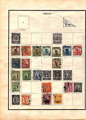 China 1913 to 1929 Collection from Scott International Album Lot of 45+ stamps