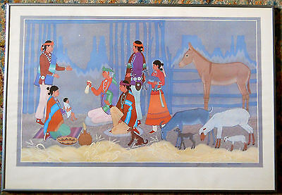 REDUCED! SIGNED!!! HARRISON BEGAY *Nativity* LIMITED Edition 116/950  Make Offer