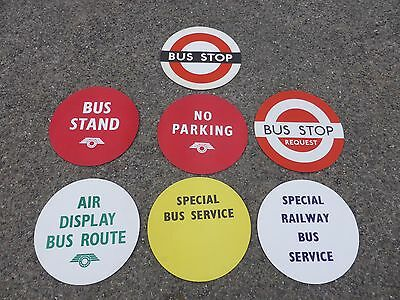 LONDON TRANSPORT BUS STOP SIGN DOLLY STOP POSTERS x 7