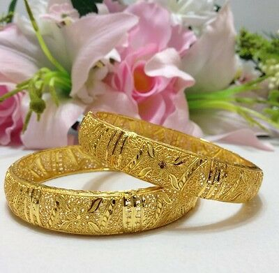 New Indian Asian Bridal Jewellery Party Ethnic Wear 22ct Gold Plated Bangles:2.6
