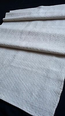 old heavy linen kitchen Towel with wafer structure