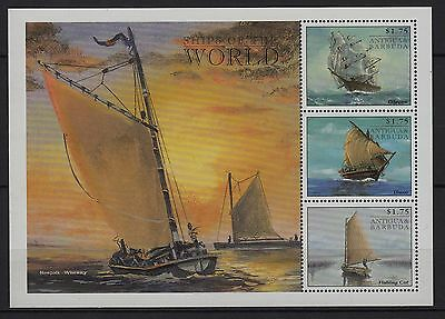 U72) x3 TIMBRES stamps (Neuf**MNH TBE) ANTIGUA & BARBUDA (bloc) SHIP