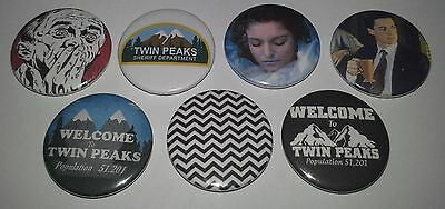 7 Twin Peaks Pin Button badges 25mm TV series Fire walk with me