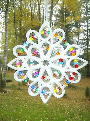 "HANDCRAFTED ""WHITE STAR STYLE SUNCATCHER"" (free shipping)"