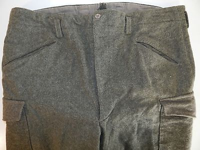 Vtg 40's WWII Men Swedish Army Military THICK WOOL Trousers FIELD Pants 40 x 28