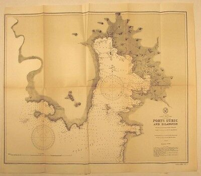Philippines Luzon island West Coast 1902 Port Subic Silanguin nautical chart map