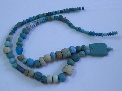 Ancient Glass Beads Strand Roman 200 BC    #BE1801