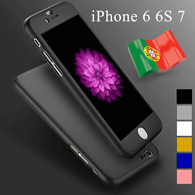 360° Ultra thin hard case + tempered glass for iphone 6 6s 7 mobile phone cover