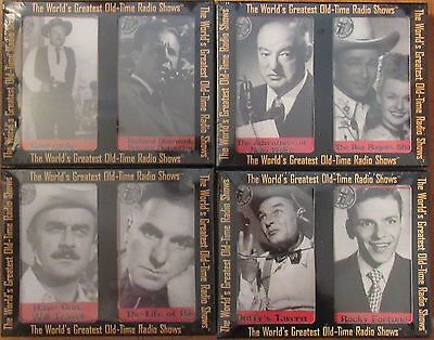 The World's Greatest Old Time Radio Shows 4 sets Brand new  8 cassette tapes