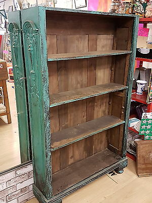 VINTAGE ANTIQUE SHABBY CHIC PROJECT 19th CENTURY WOODEN BOOK SHELF BOOKCASE