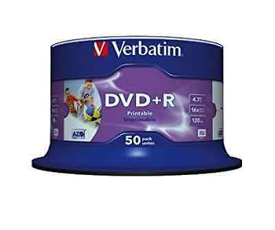 Verbatim (43512) : DVD+R 16x 50-pack : Printable Optical Media