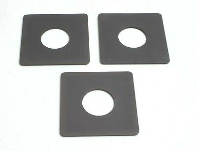 Horseman Type VH, VH-R 80m #0 Lens Boards, Set of 3 Generic Boards