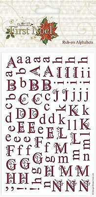 Docrafts Papermania ~ FIRST NOEL ~ Rub-on Alphabet (2 sheets)